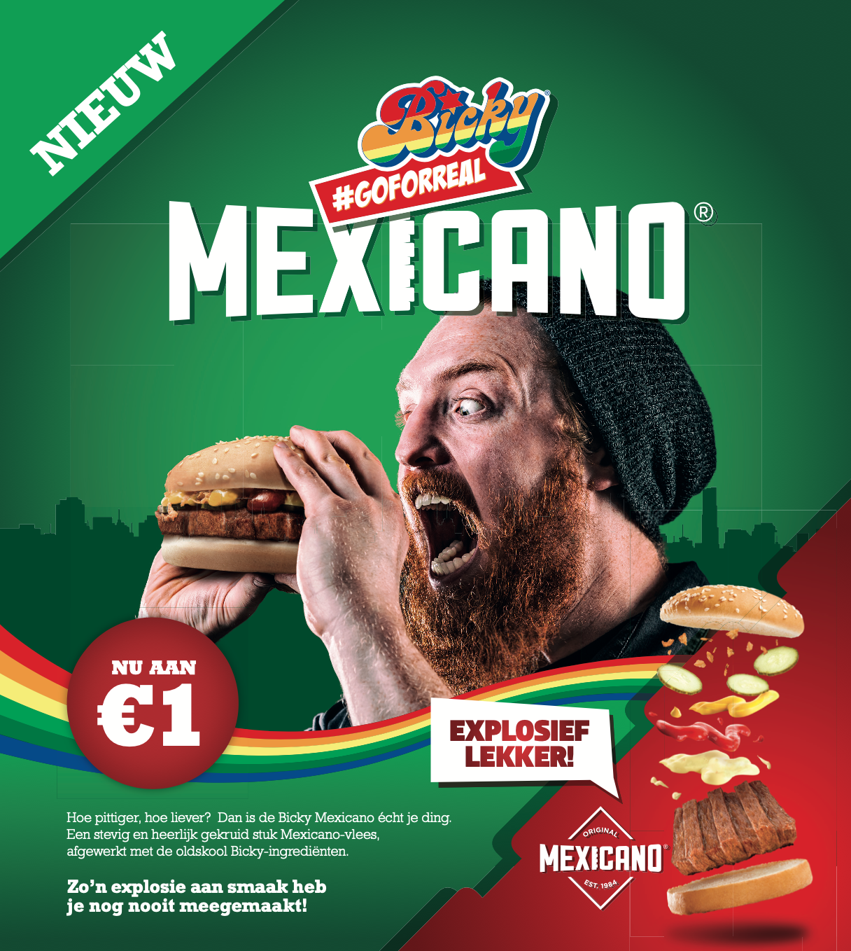 Poster Fritkotactie Bicky Mexicano